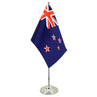 Satin Desk and Table Flag New Zealand - 6x9""