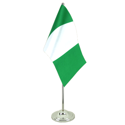 Satin Table Flag Nigeria - 6x9""
