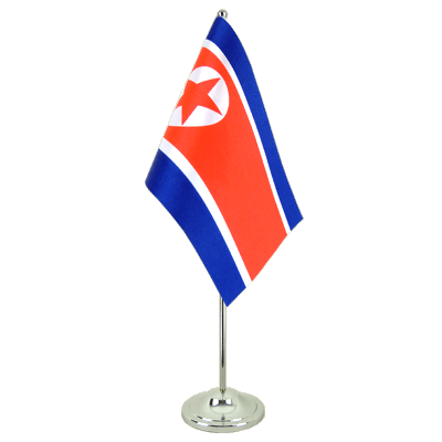 Satin North corea Table Flag - 6x9""