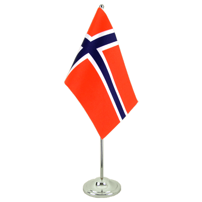 Satin Table Flag Norway - 6x9""