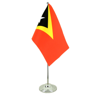 Satin Table Flag East Timor - 6x9""