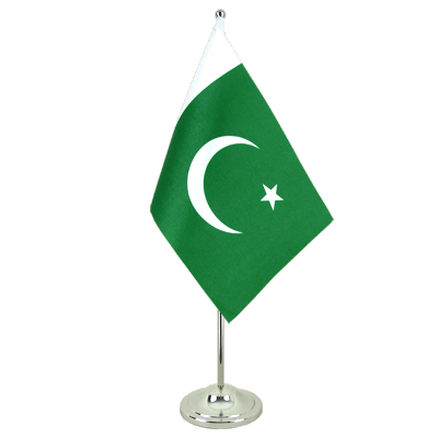 Drapeau de table prestige Pakistan 15x22 cm