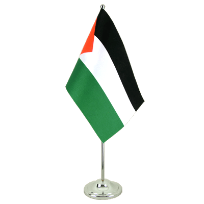 Satin Desk and Table Flag Palestine - 6x9""