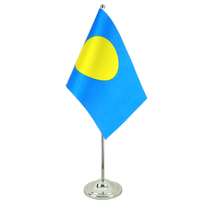 Satin Table Flag Palau - 6x9""