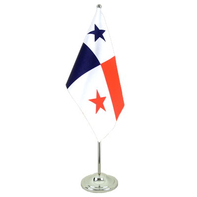 Satin Table Flag Panama - 6x9""