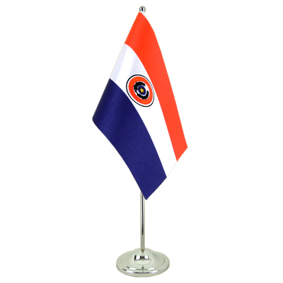 Paraguay Satin Table Flag 6x9""