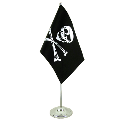 Drapeau de table prestige Pirate 15x22 cm