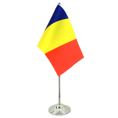 Drapeau de table prestige Roumanie 15x22 cm