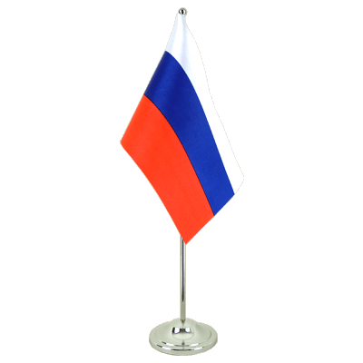 Satin Desk and Table Flag Russia - 6x9""