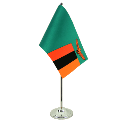 Satin Table Flag Zambia - 6x9""