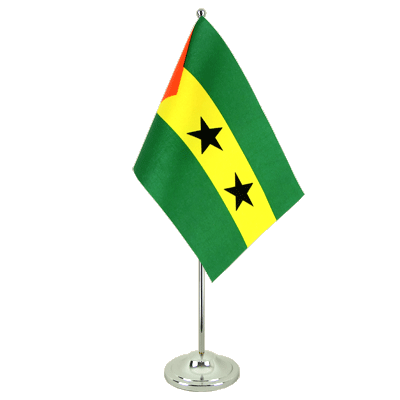Satin Sao Tome and Principe Table Flag - 6x9""