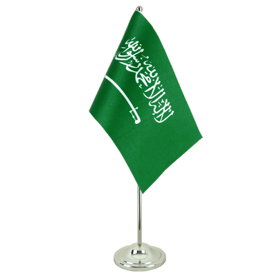 Satin Desk and Table Flag Saudi Arabia - 6x9""