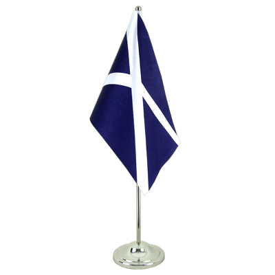 Scotland navy Satin Table Flag 6x9""