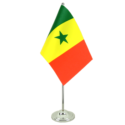 Satin Senegal Table Flag - 6x9""