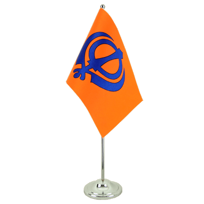 Satin Desk and Table Flag Sikhism - 6x9""
