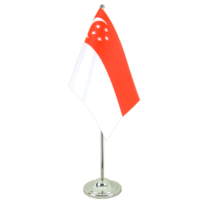 Satin Desk and Table Flag Singapore - 6x9""