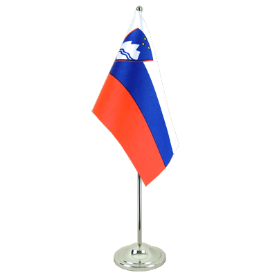 Slovenia Satin Table Flag 6x9""