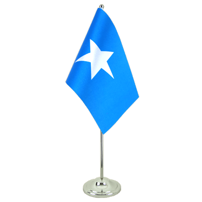 Satin Somalia Table Flag - 6x9""
