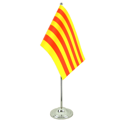 Drapeau de table prestige Catalogne 15x22 cm