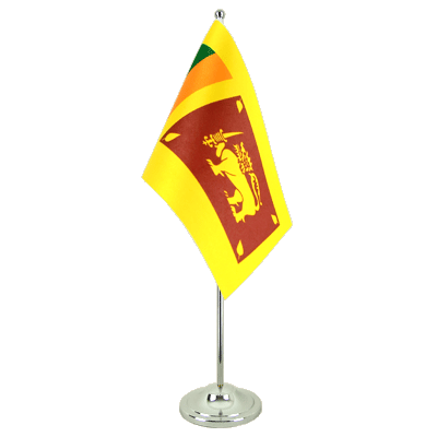 Satin Table Flag Sri Lanka - 6x9""