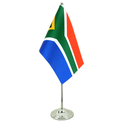 Satin Table Flag South Africa - 6x9""