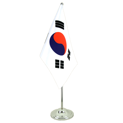 Satin Desk and Table Flag South Korea - 6x9""