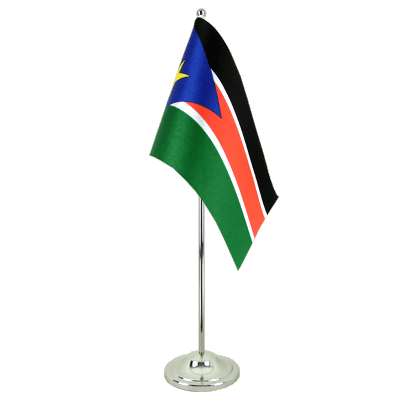 Southern Sudan Satin Table Flag 6x9""