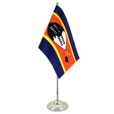 Satin Table Flag Swaziland - 6x9""