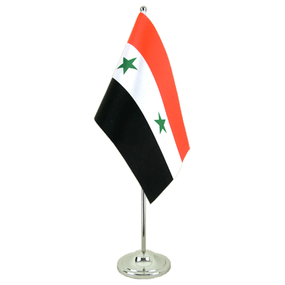 Satin Table Flag Syria - 6x9""