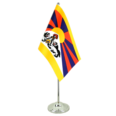 Satin Table Flag Tibet - 6x9""