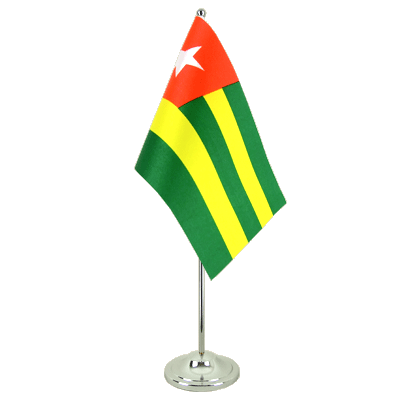 Drapeau de table prestige Togo 15x22 cm