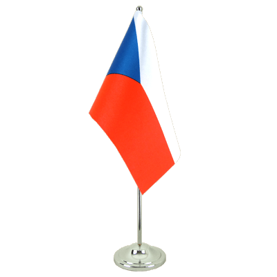 Satin Desk and Table Flag Czech Republic - 6x9""