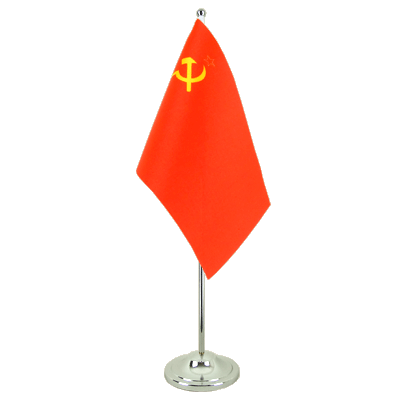 Satin Table Flag USSR Soviet Union - 6x9""