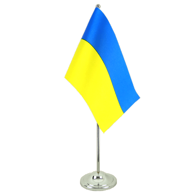 Drapeau de table prestige Ukraine 15x22 cm