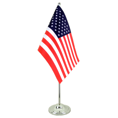 Drapeau de table prestige USA 15x22 cm