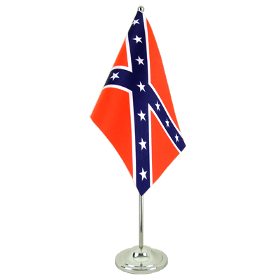 Satin Desk and Table Flag USA Southern United States - 6x9""