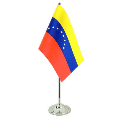 Satin Table Flag Venezuela 8 stars - 6x9""