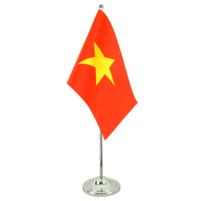 Satin Table Flag Vietnam - 6x9""