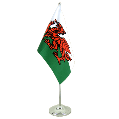 Satin Table Flag Wales - 6x9""
