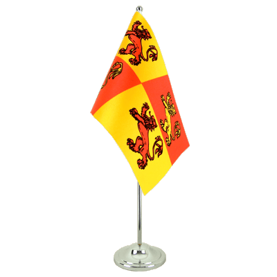 Satin Table Flag Wales Royal Owain Glyndwr - 6x9""