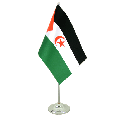 Drapeau de table prestige Sahara occidental 15x22 cm