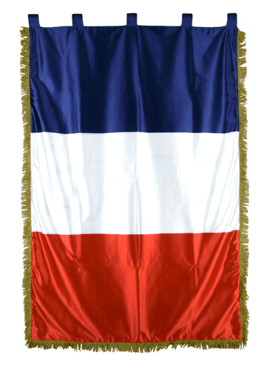 Satin Indoor Flag with Fringe France - 100 x 150 cm