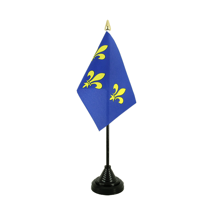 Mini drapeau de table Île-de-France 10x15 cm
