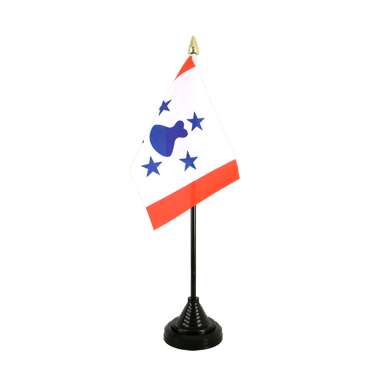 Mini drapeau de table îles Australes 10x15 cm