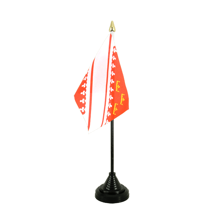 "Table Flag Alsace - 4x6"" (10 x 15 cm)"