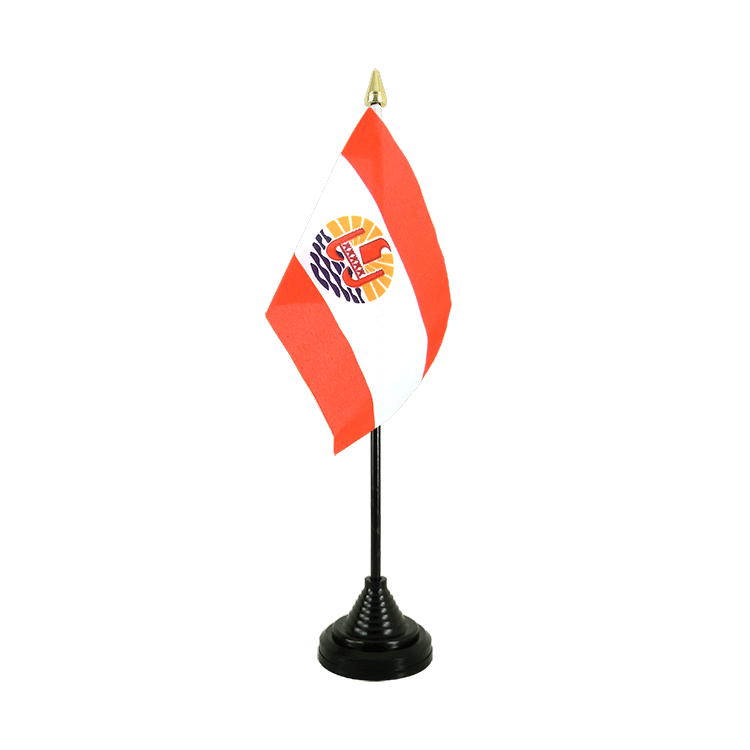 "Table Flag French Polynesia - 4x6"" (10 x 15 cm)"
