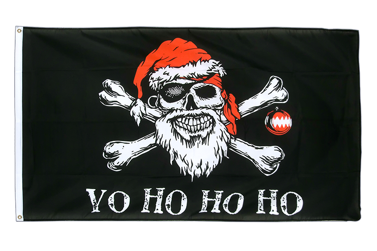Pirate Christmas - 3x5 ft Flag