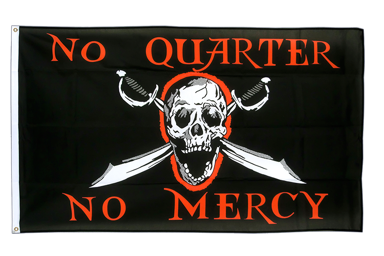 Pirat No Quarter No Mercy - Flagge 90 x 150 cm kaufen