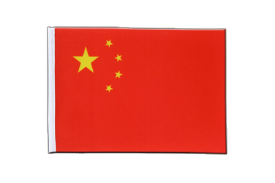 China - Satin Flagge 15 x 22 cm