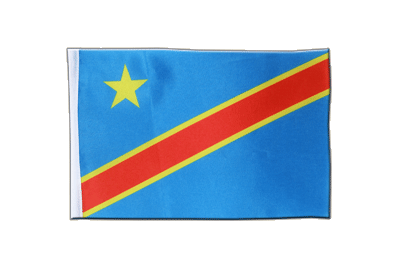 Satin Flag Democratic Republic of the Congo - 6x9""